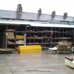 Plastics sheets-guttering, Carnforth